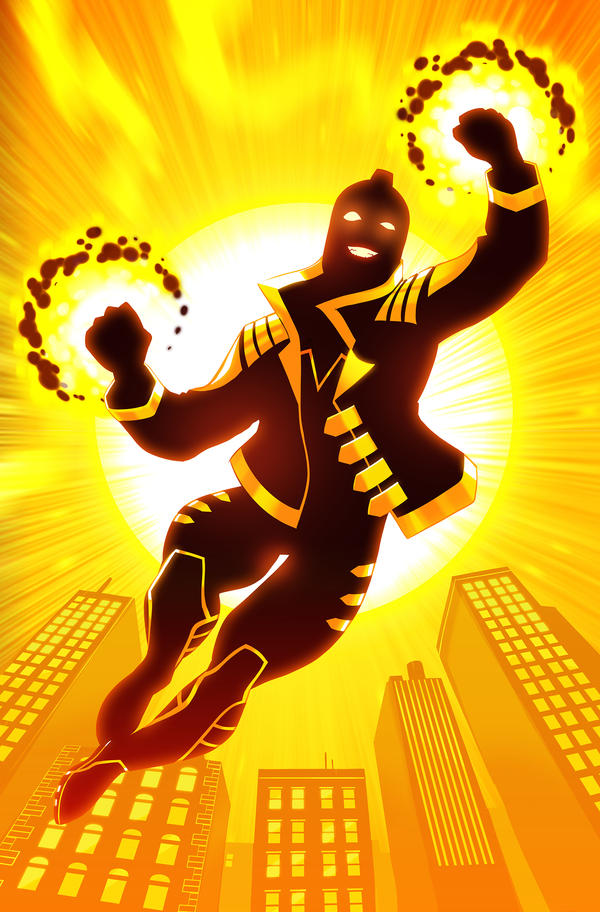 Variant cover of <em>Justice League of America: The Ray: Rebirth #1; </em>art by Stephen Byrne.