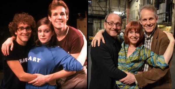 <strong>Then and now:</strong> In his new documentary <em>Best Worst Thing That Ever Could Have Happened,</em> director Lonny Price, left, reconnects with fellow cast members — including Ann Morrison and Jim Walton — from the 1981 Broadway flop, <em>Merrily We Roll Along.</em>