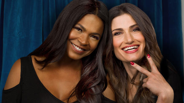 Nia Long and Idina Menzel star in Lifetime's update of <em>Beaches</em>, airing Saturday night.