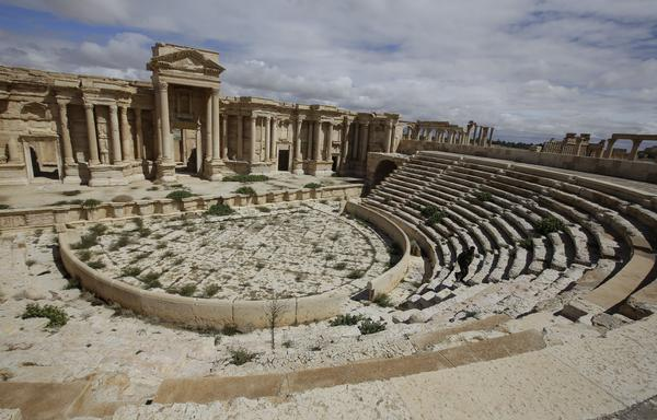 The facade of the Roman theater in Palmyra, shown in 2014, has been destroyed by ISIS, Syria's antiquities chief says. From the 1st to the 2nd century, the art and architecture of Palmyra, standing at the crossroads of several civilizations, married Greco-Roman techniques with local traditions and Persian influences.