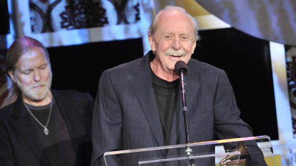 Allman Brothers drummer Butch Trucks, seen here receiving a Grammy Award in 2012, died Tuesday, according to a statement from his publicist.