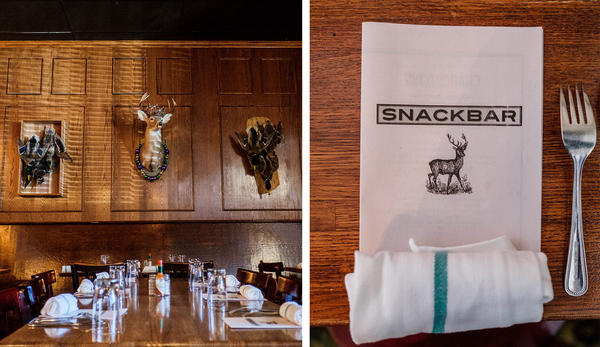 With its wood-paneled walls and cozy booths, Snackbar has an intimate, clubhouse-feel. It's become a favorite hangout in Oxford.