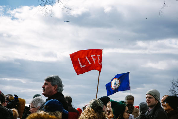 Crowds gathered along the National Mall for the 44th annual March for Life put on by abortion rights opponents from around the nation.