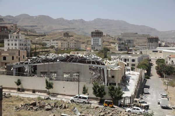 A Saudi-led airstrike in Sanaa, Yemen's capital, destroyed a funeral hall in October.