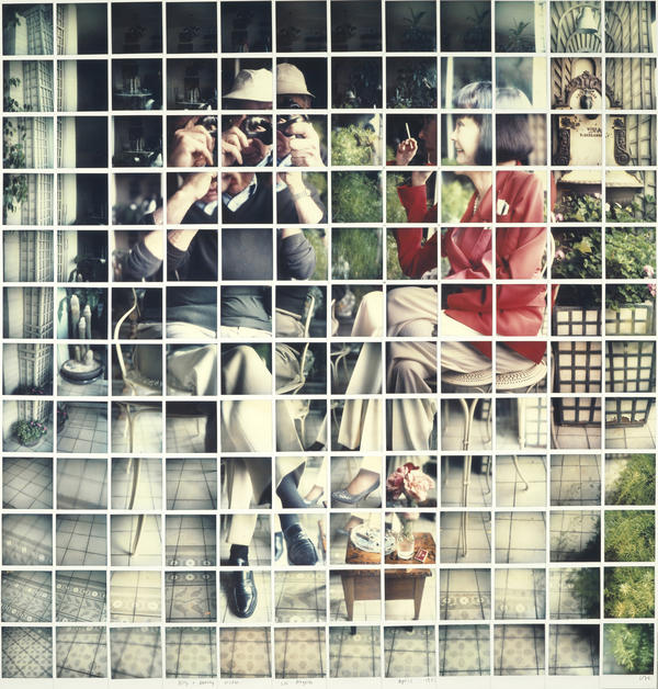 Hockney made this 1982 portrait of <em>Bill and Audrey Wilder </em>out of dozens of Polaroid pictures.