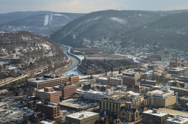 Johnstown, Pa., nestled in the Allegheny mountains, has more registered Democrats than Republicans, but has voted Republican in the last two presidential elections.