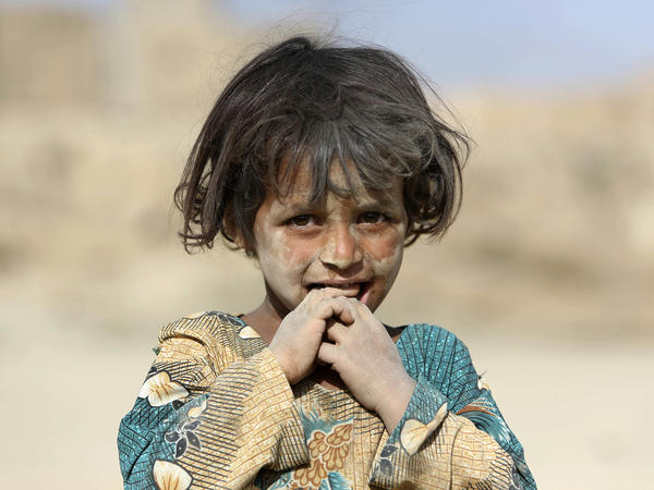 An Afghan girl on the outskirts of Kabul, Afghanistan, in October 2016. The U.N. mission in Afghanistan says the number of children killed or wounded increased 24 percent last year.