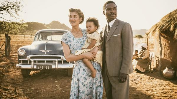 Before Botswana: Ruth (Rosamund Pike) and Seretse (David Oyelowo) present a united front in <em>A United Kingdom</em>.