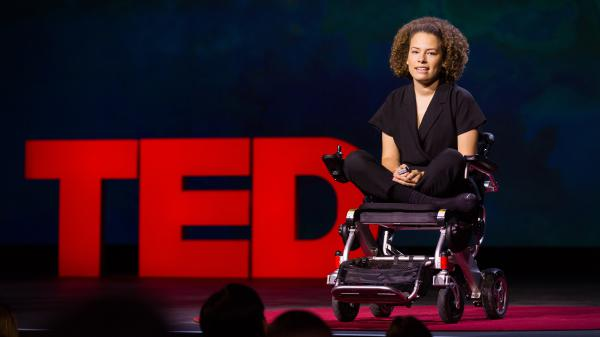 Jen Brea on the TED Stage at TEDSummit2016 in Canada