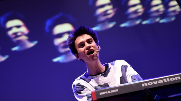 Jacob Collier performs at Italy's Locus Festival in July 2016. The 22-year-old musician and arranger, up for two Grammy awards this year, started his career as a YouTube sensation.