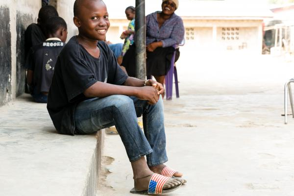 Sundaygar Moses, now 12, was suffered a gunshot wound as an infant. Due to an infection, his right leg had to be amputated beneath the knee. His new prosthetic is a close match to his skin tone.