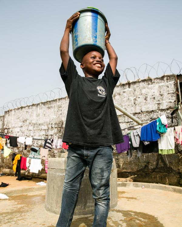 With his new leg, Sundaygar can carry water, but he says it is difficult.