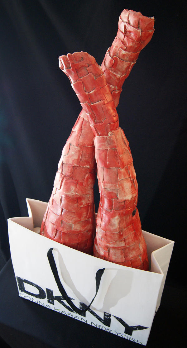 """Jessica Osceola's sculpture titled, """"Not Yours, Not Ours, Not For Sale."""""""