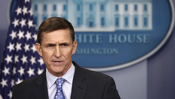 National Security Advisor Michael Flynn answers questions in the briefing room of the White House on Feb. 1.