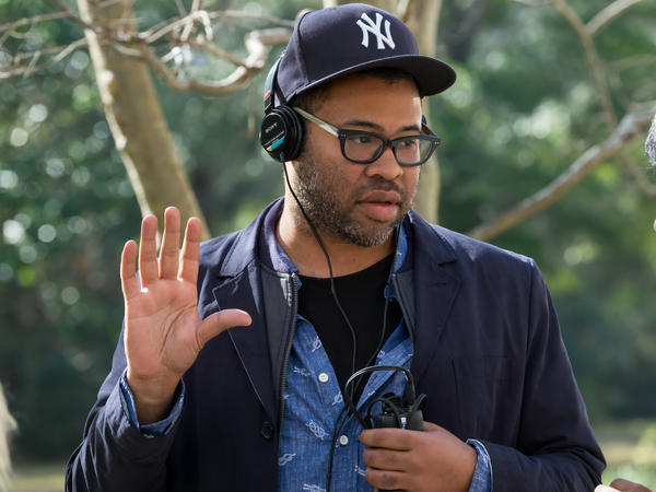 Writer/director/producer Jordan Peele on the set of Universal Pictures' <em>Get Out</em>.