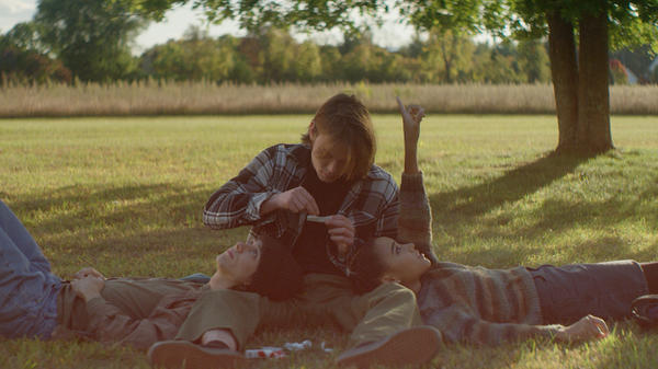 Smells Like Teen Spirit: Jack (Owen Campbell), Mark (Charlie Heaton), and Sarah (Amandla Stenberg) forge complicated relationships in <em>As You Are</em>.
