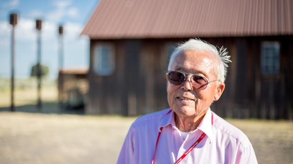 """Jim Tanimoto worked on the freight crew, packing and shipping out produce from the Tule Lake farm. Along with many others, he refused to sign the infamous """"loyalty questionnaire."""" He was jailed in a nearby town, and at this former Civilian Conservation Corps camp. He says, """"I stood on my constitutional rights. You can't do this to American citizens."""""""