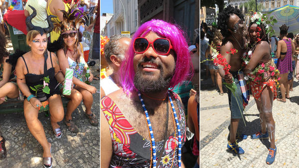 """The carnival in Rio de Janeiro hasn't even officially opened, but this weekend several hundred thousand people were already out parading. """"Blocos"""" are locally-organised street parties held in Rio de Janeiro, Brazil that precede the Carnival."""