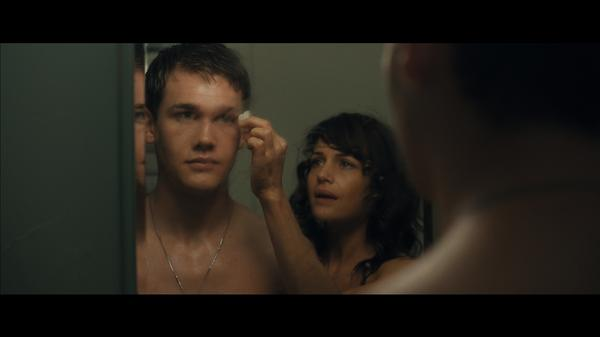 Anthony (Taylor John Smith) and mother Jenny (Carla Gugino) share a reflective moment in <em>Wolves</em>.