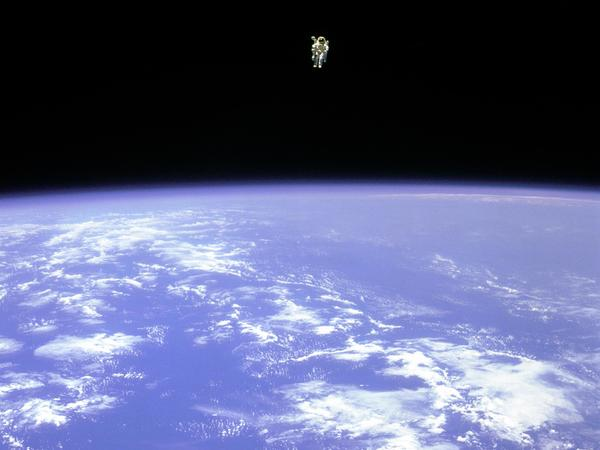 On Feb. 12, 1984, Bruce McCandless ventured away unrestrained from the safety of his spaceship, which no previous astronaut had done. He could do it because of a brand-new, jet-powered backpack.
