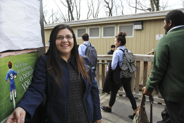 Lesly Lemus, a social worker at IHS, says that many students here have endured a lot.