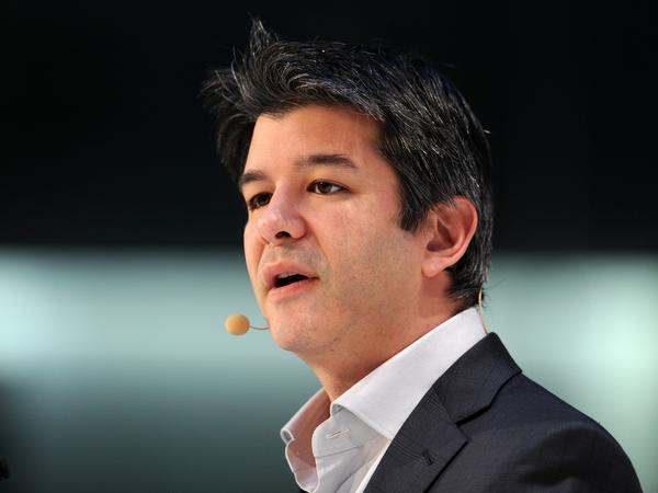 In this 2015 photograph, Uber co-founder and CEO Travis Kalanick speaks during the opening of the Digital Life Design Conference in Munich.