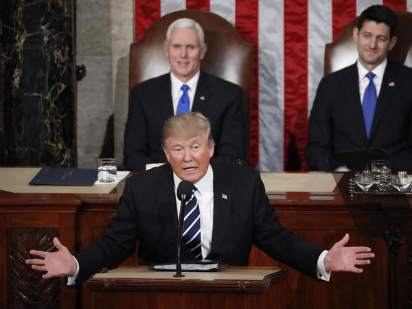 "Vice President Pence says President Trump showed his ""broad heart and big shoulders"" in Tuesday night's address to Congress."