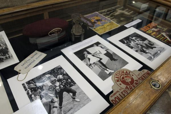 Historical artifacts on display at Howard's Founders Library.
