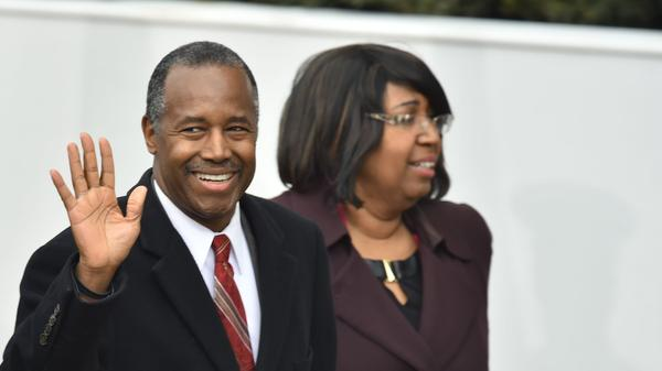 Ben Carson arrives for the presidential inaugural parade in front of the White House on Jan. 20. Carson was confirmed as Housing and Urban Development secretary on Thursday.