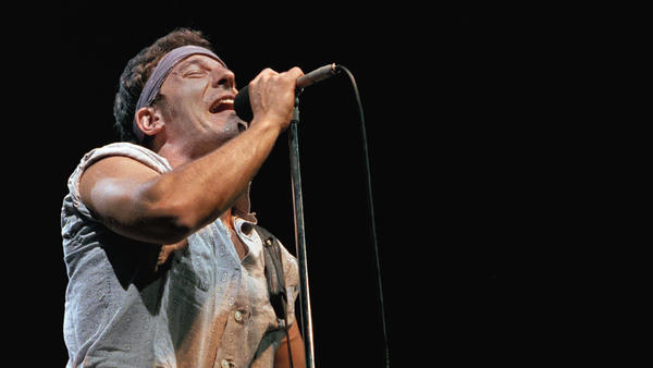 "Bruce Springsteen performs at Meadowlands Arena in New Jersey in August 1984, the same year his hit ""Glory Days"" was released. It was an anthem for a generation looking back at the good, old days."