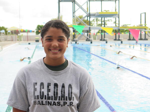 Paola Santiago is preparing to try out for the national swim team of Puerto Rico. She says she wants to make her island proud, just like tennis player Monica Puig did at the Rio Olympics.