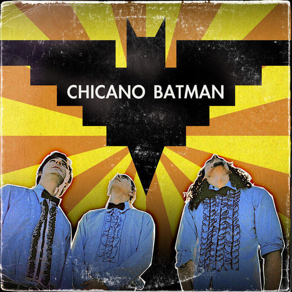 The cover of <em></em>Chicano Batman's 2010 debut, featuring its iconic logo.