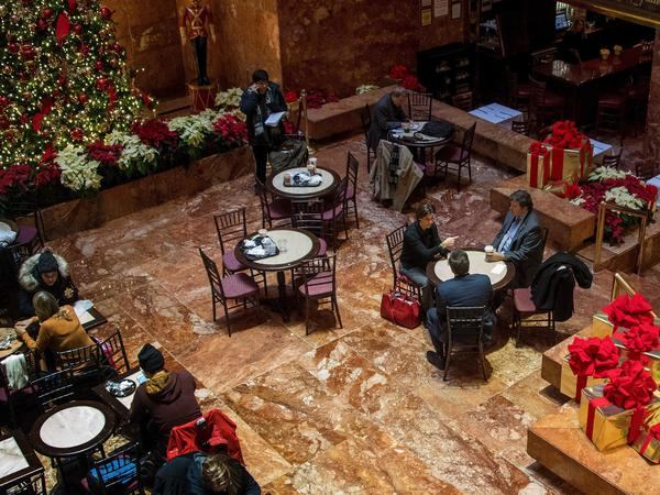The Trump Grill at Trump Tower in New York City in December. Now that Donald Trump is president, online reviews of his hotels, restaurants and other properties have become much more politicized.