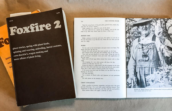 The original <em>Foxfire</em> book series consists of 12 volumes, but there are additional specialty books focusing on cooking, winemaking, religion and music.