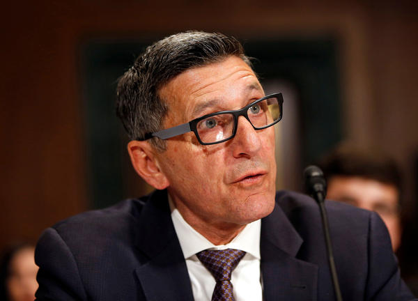 Michael Botticelli, former director of the Office of National Drug Control Policy, testifies during a Senate Judiciary Committee hearing on attacking America's epidemic of heroin and prescription drug abuse.
