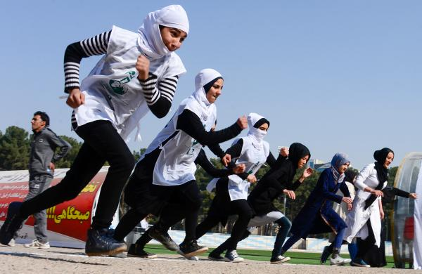 Current school uniforms let Afghan girls run.