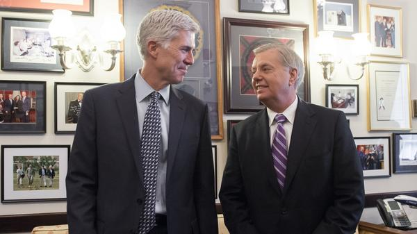 Judge Neil Gorsuch, pictured with Sen. Lindsey Graham, has met with 72 senators ahead of his confirmation hearings.