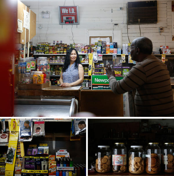 Cindy Ma (top) and her husband now run the store once owned by Raymond Wong's parents in Greenville, Miss.