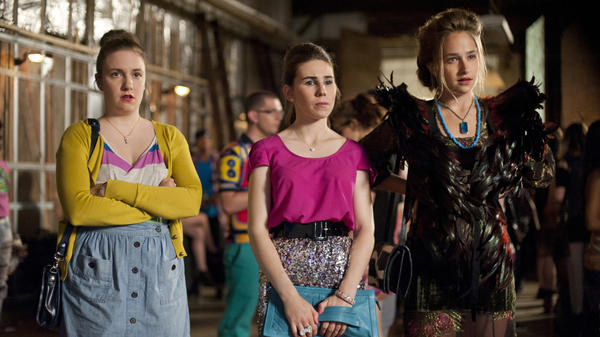 Lena Dunham, Zosia Mamet and Jemima Kirke appear in the first season of <em>Girls</em>. Konner says part of her job on the show involved keeping the actresses from dramatically changing their appearance in the off season.