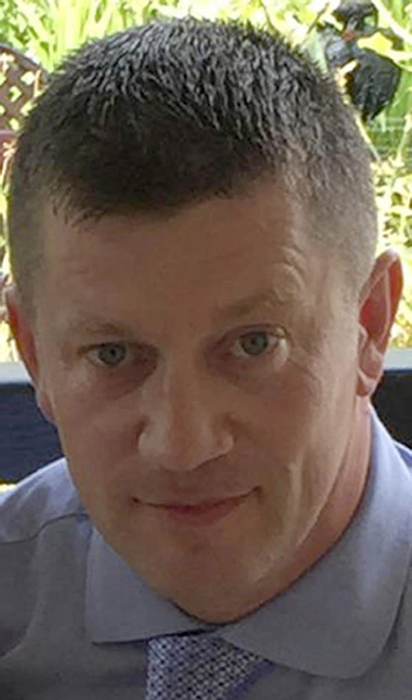A photo released by Metropolitan Police on Wednesday depicts police officer Keith Palmer, who was killed during the attack on the Houses of Parliament in London.