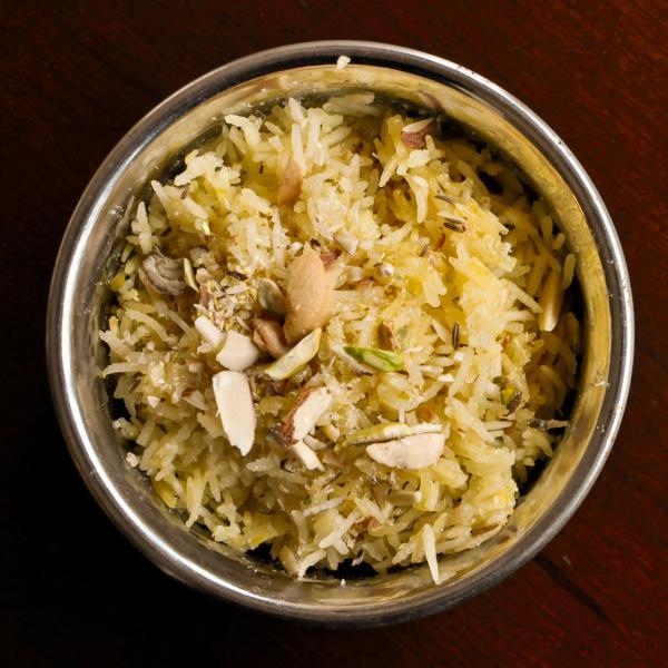 The author's <em>tahri, </em>from a family recipe