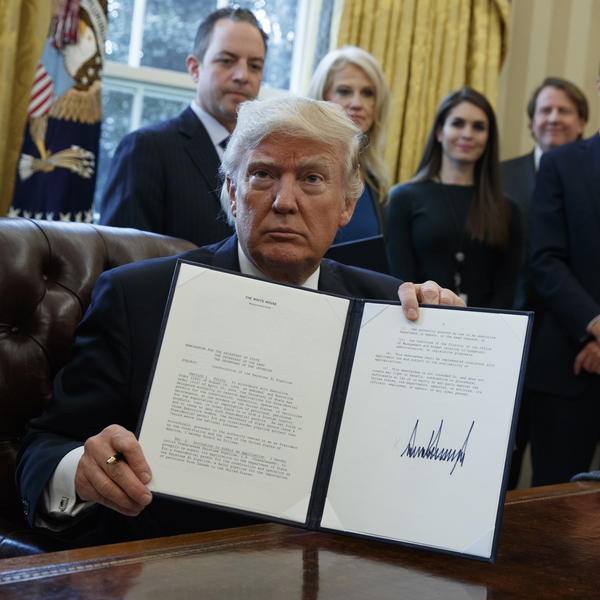 President Trump signed an executive order on Jan. 24 supporting construction of the Keystone XL pipeline.