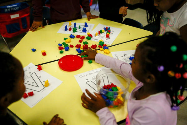 Tomiko Ball's students at work in Orr Elementary in southeast Washington, D.C.