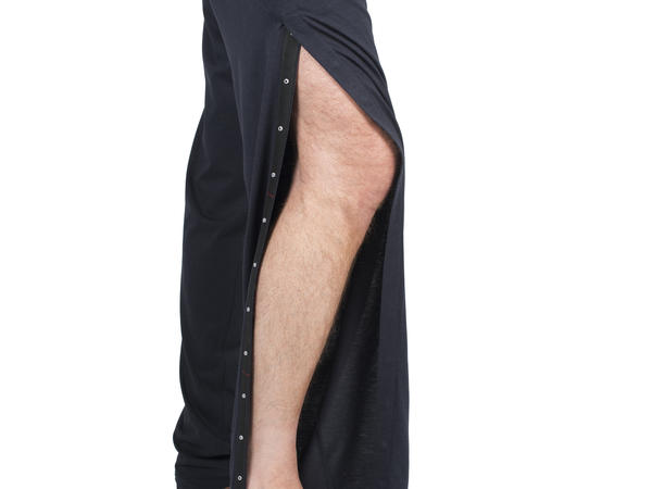 INGA Wellbeing's men's jersey trousers with leg access.