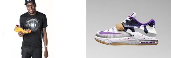 The NBA's culinary obsession has even permeated fashion: Nike created the<em> KD 6 PB&J Colorways </em>(left)<em>,</em> inspired by Golden State Warriors' Kevin Durant's favorite snack, before releasing the <em>KD 7 PB&J's </em>(right), designed for youth athletes.