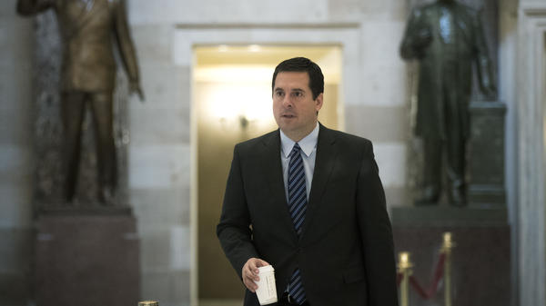 House Intelligence Committee chairman Rep. Devin Nunes (R-CA) walks to the House floor on Capitol Hill on Friday. Nunes has been challenged by his colleagues about over how he acquired and handled classified information that he didn't share with the rest of the committee.