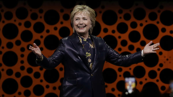 "Hillary Clinton said the withdrawal of the GOP health care bill last week was ""a victory for all Americans."" She criticized the Trump administration for having the fewest number of women in top jobs ""in a generation."""