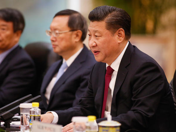 Chinese President Xi Jinping will visit President Trump next week in Florida, their first in-person meeting. Above, Xi during a meeting last month.