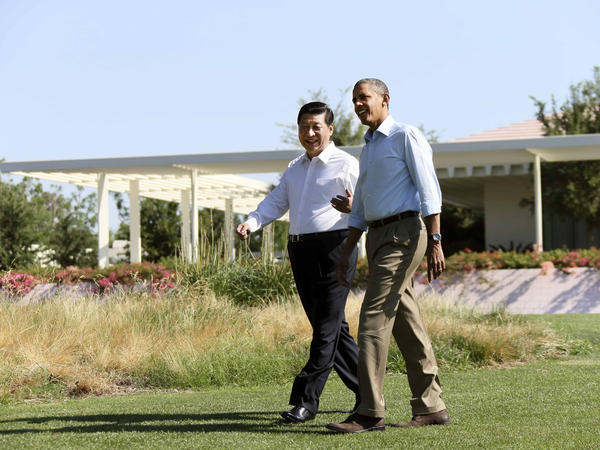 Xi Jinping met with President Barack Obama for an informal summit at California's Sunnylands estate in June 2013. The visit was seen by some as a new, more informal style of Chinese diplomacy.