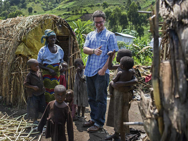 Michael Sharp visited Elizabeth Namavu and children in Mubimbi Camp, home to displaced persons in the Democratic Republic of Congo, during his time in the country. When he was killed, he was part of a U.N. mission.